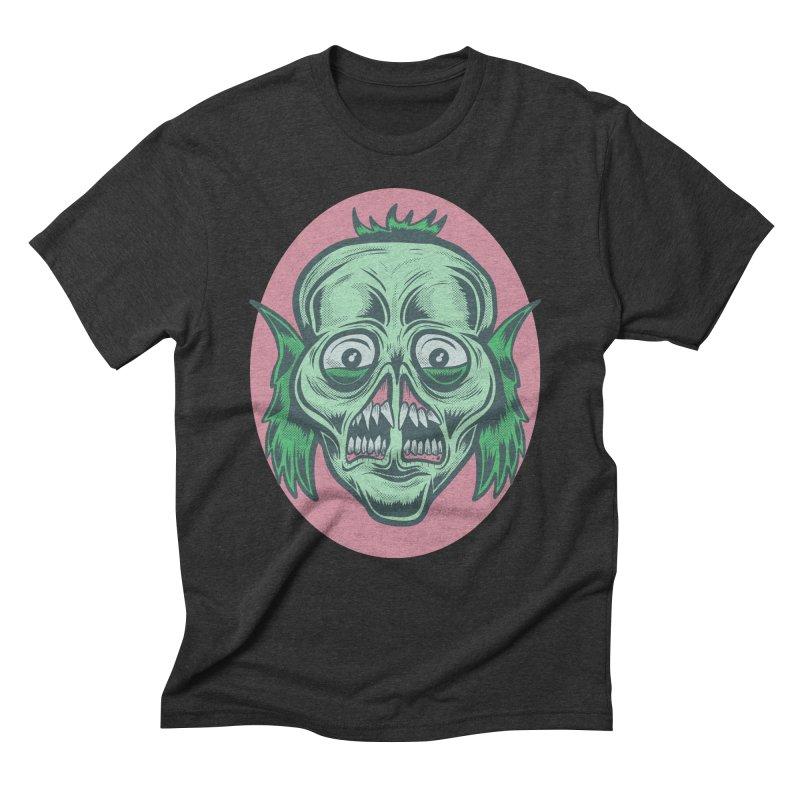 The Split Faced Creature Men's Triblend T-Shirt by Pat Higgins Illustration