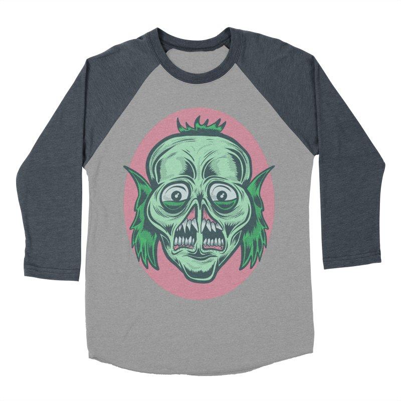 The Split Faced Creature Men's Baseball Triblend T-Shirt by Pat Higgins Illustration