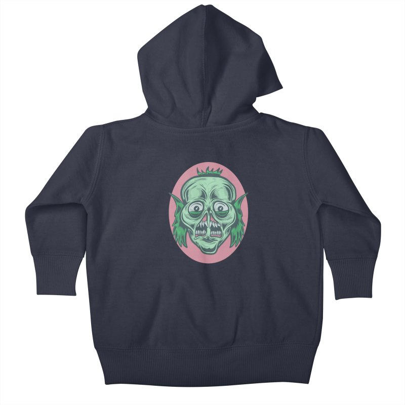 The Split Faced Creature Kids Baby Zip-Up Hoody by Pat Higgins Illustration