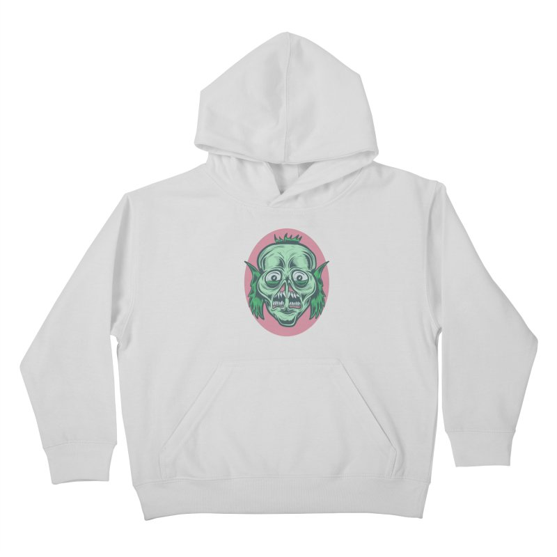 The Split Faced Creature Kids Pullover Hoody by Pat Higgins Illustration