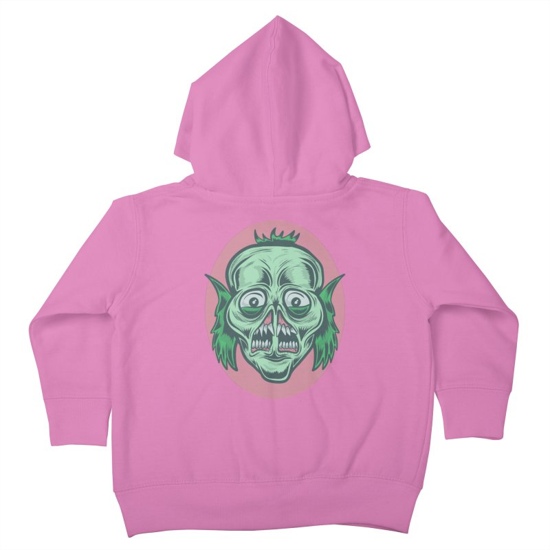 The Split Faced Creature Kids Toddler Zip-Up Hoody by Pat Higgins Illustration