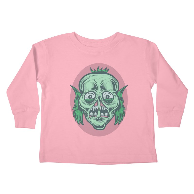 The Split Faced Creature Kids Toddler Longsleeve T-Shirt by Pat Higgins Illustration