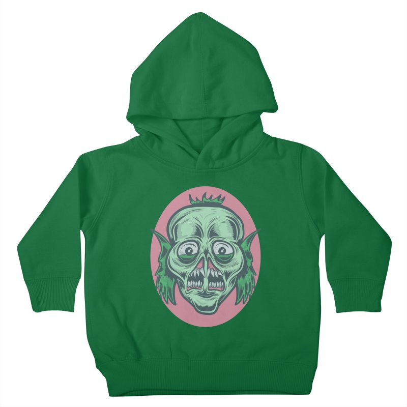 The Split Faced Creature Kids Toddler Pullover Hoody by Pat Higgins Illustration