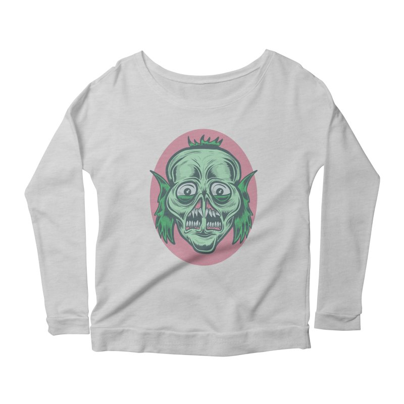 The Split Faced Creature Women's Longsleeve Scoopneck  by Pat Higgins Illustration