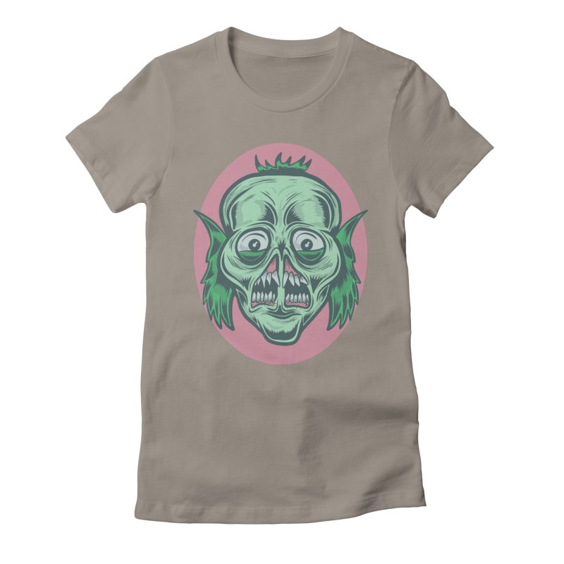 The Split Faced Creature Women's Fitted T-Shirt by Pat Higgins Illustration