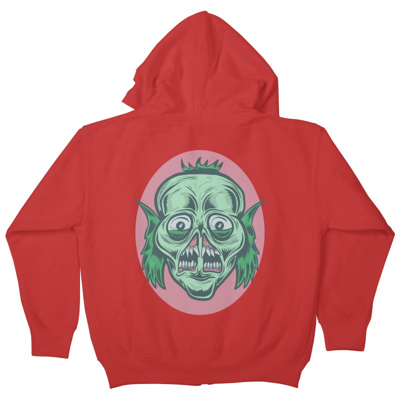 The Split Faced Creature Kids Zip-Up Hoody by Pat Higgins Illustration