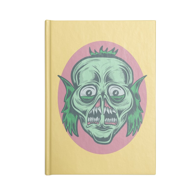 The Split Faced Creature Accessories Notebook by Pat Higgins Illustration