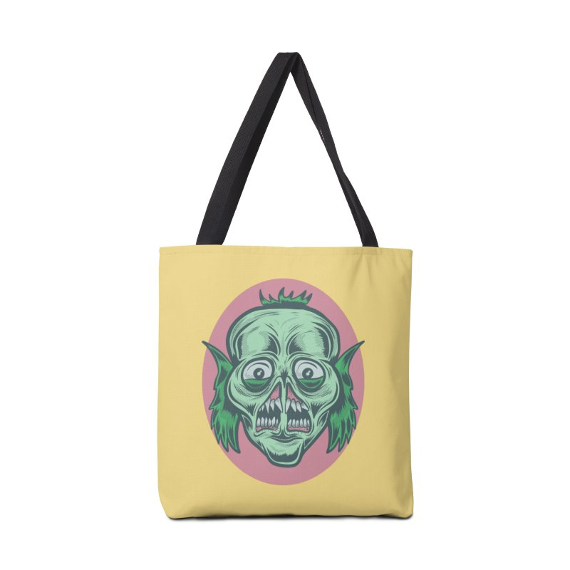 The Split Faced Creature Accessories Bag by Pat Higgins Illustration