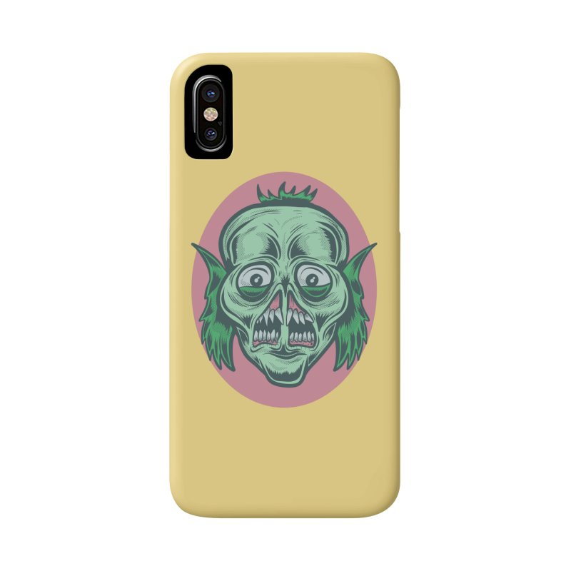 The Split Faced Creature Accessories Phone Case by Pat Higgins Illustration