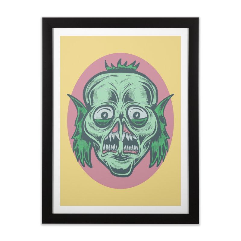 The Split Faced Creature Home Framed Fine Art Print by Pat Higgins Illustration