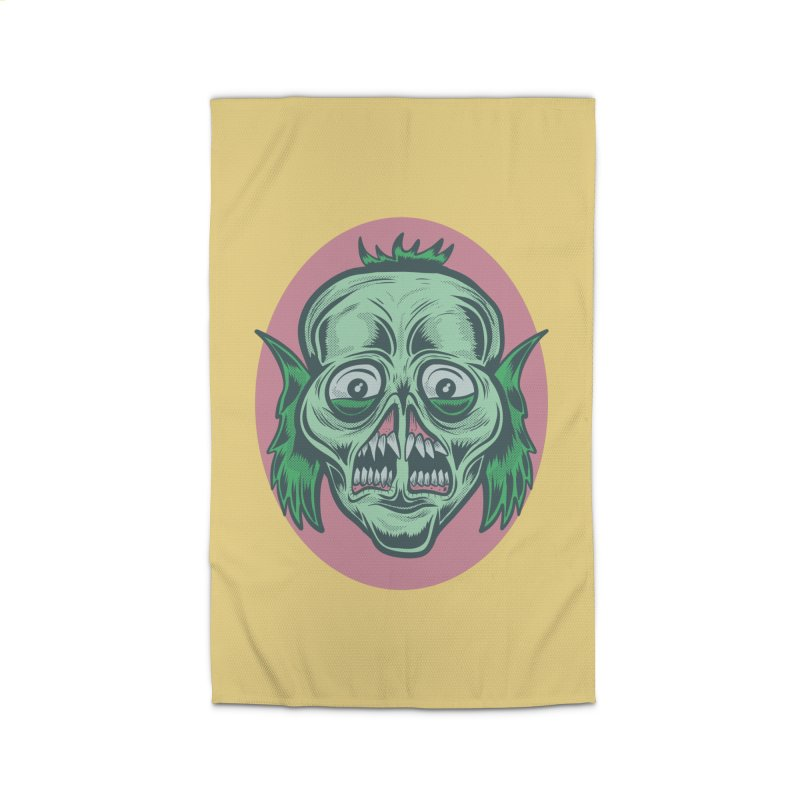 The Split Faced Creature Home Rug by Pat Higgins Illustration