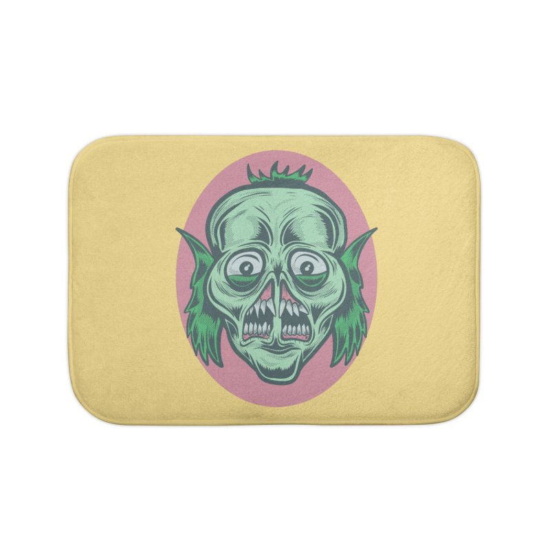 The Split Faced Creature Home Bath Mat by Pat Higgins Illustration