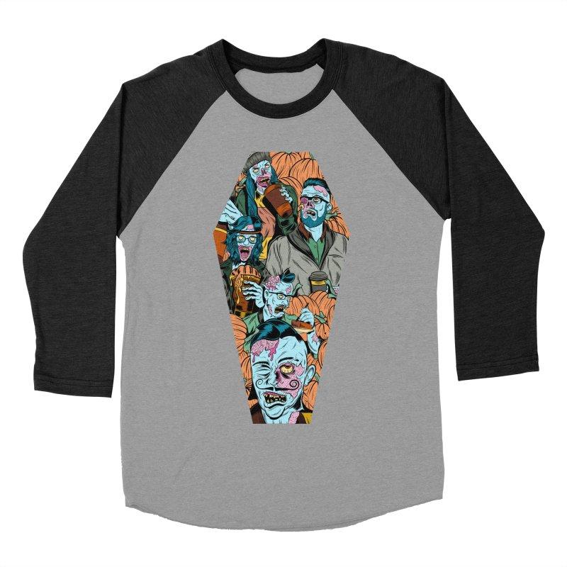 Death by Pumpkin Men's Baseball Triblend T-Shirt by Pat Higgins Illustration