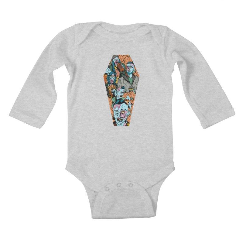 Death by Pumpkin Kids Baby Longsleeve Bodysuit by Pat Higgins Illustration