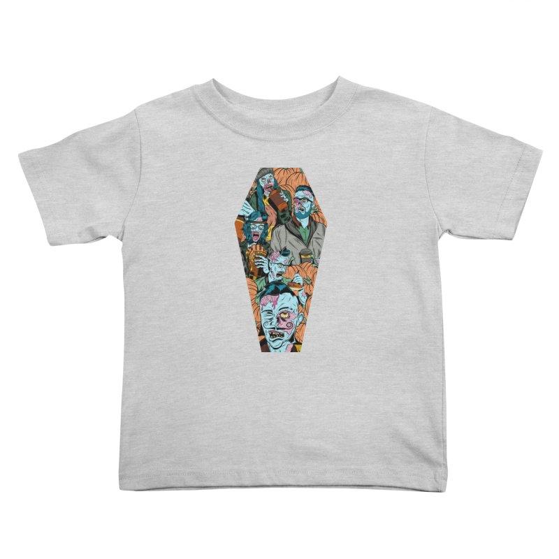 Death by Pumpkin Kids Toddler T-Shirt by Pat Higgins Illustration