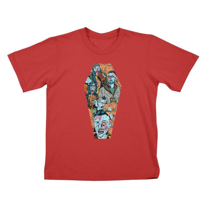 Death by Pumpkin Kids T-Shirt by Pat Higgins Illustration