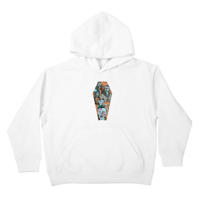 Death by Pumpkin Kids Pullover Hoody by Pat Higgins Illustration
