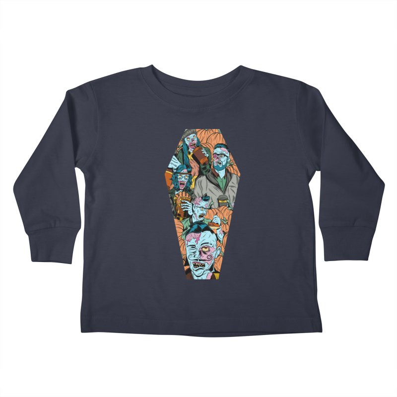 Death by Pumpkin Kids Toddler Longsleeve T-Shirt by Pat Higgins Illustration