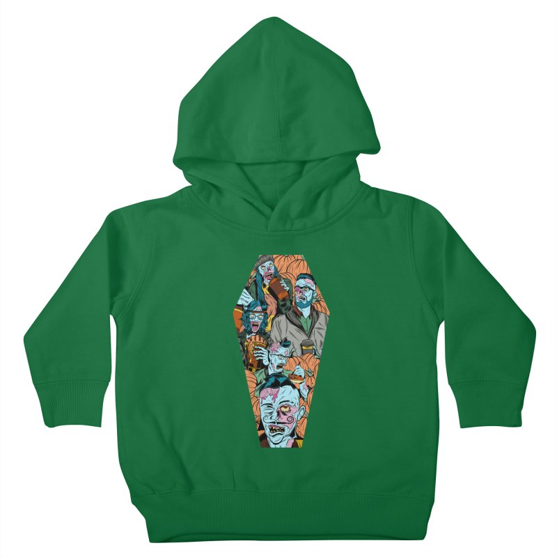Death by Pumpkin Kids Toddler Pullover Hoody by Pat Higgins Illustration