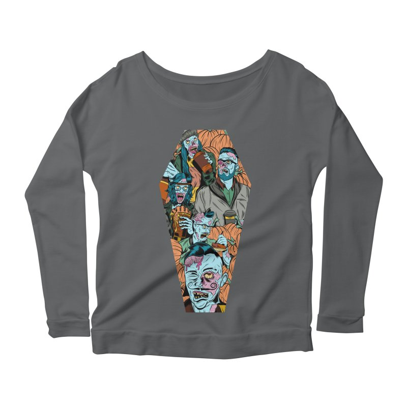 Death by Pumpkin Women's Longsleeve Scoopneck  by Pat Higgins Illustration