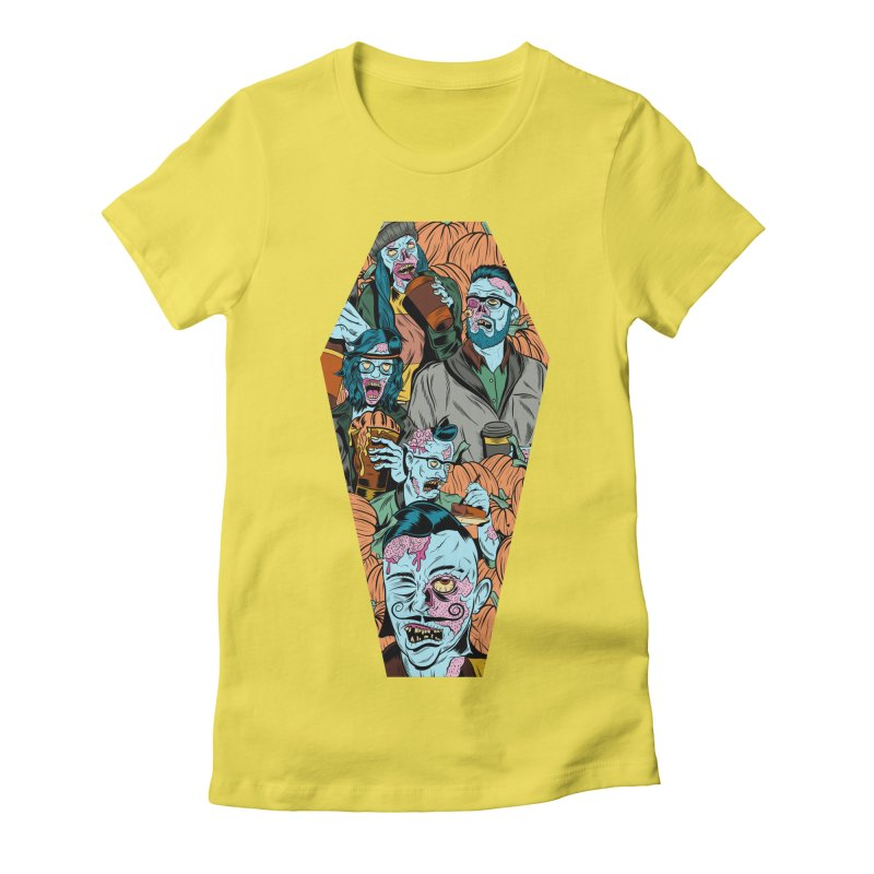 Death by Pumpkin Women's Fitted T-Shirt by Pat Higgins Illustration