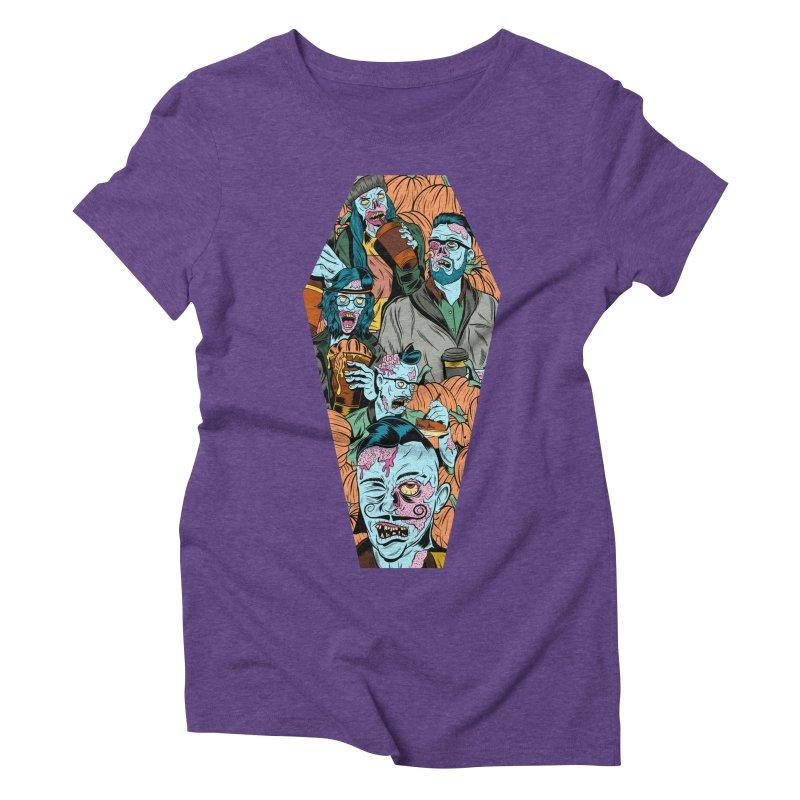 Death by Pumpkin Women's Triblend T-Shirt by Pat Higgins Illustration