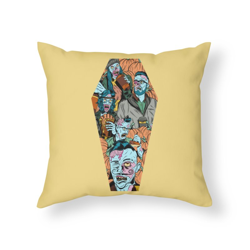 Death by Pumpkin Home Throw Pillow by Pat Higgins Illustration
