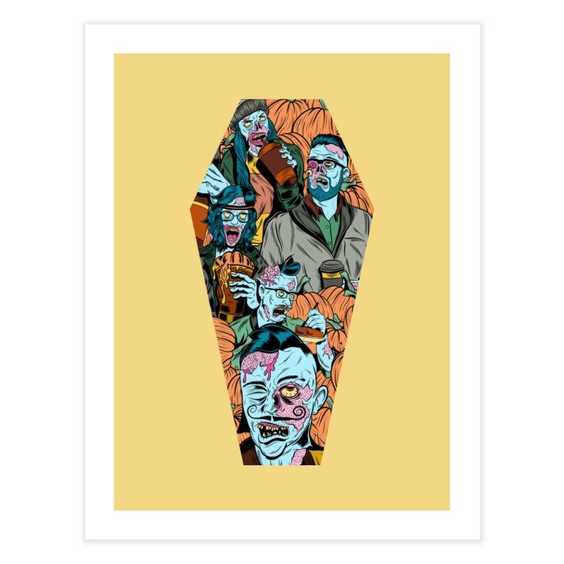 Death by Pumpkin Home Fine Art Print by Pat Higgins Illustration