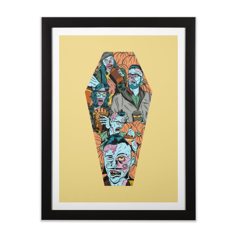 Death by Pumpkin Home Framed Fine Art Print by Pat Higgins Illustration