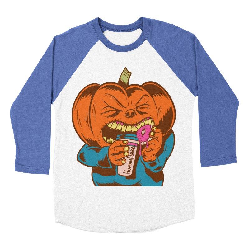 Human Latte Men's Baseball Triblend T-Shirt by Pat Higgins Illustration