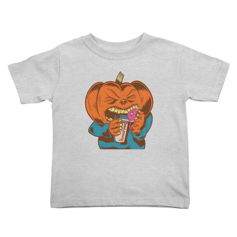Human Latte Kids Toddler T-Shirt by Pat Higgins Illustration