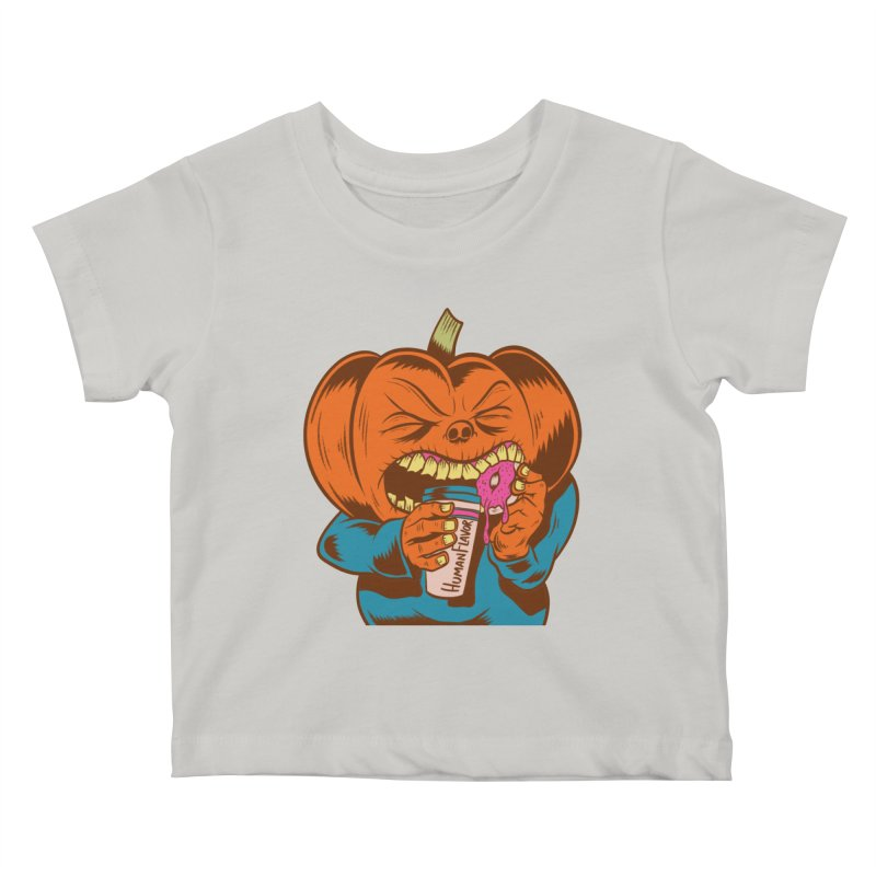 Human Latte Kids Baby T-Shirt by Pat Higgins Illustration