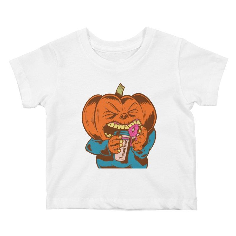 Human Latte Kids Baby T-Shirt by Pat Higgins Illustration