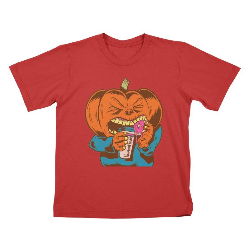 Human Latte Kids T-shirt by Pat Higgins Illustration