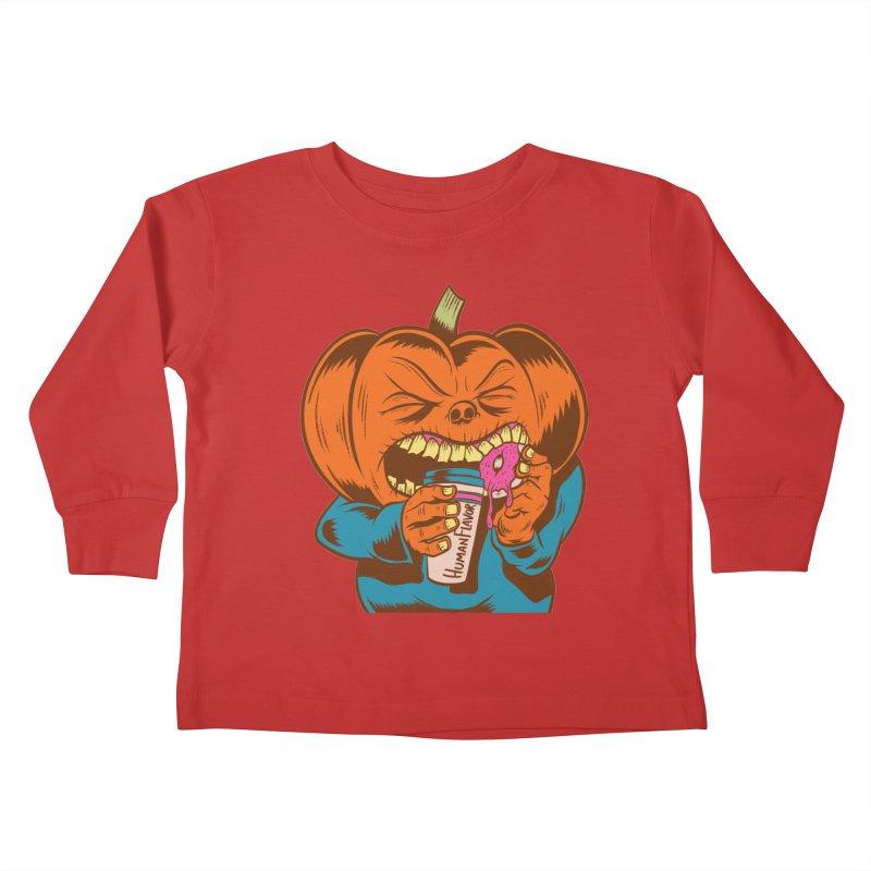 Human Latte Kids Toddler Longsleeve T-Shirt by Pat Higgins Illustration