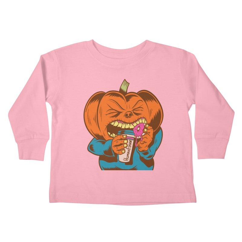 Human Latte Kids Toddler Longsleeve T-Shirt by Pat Higgins Illustration