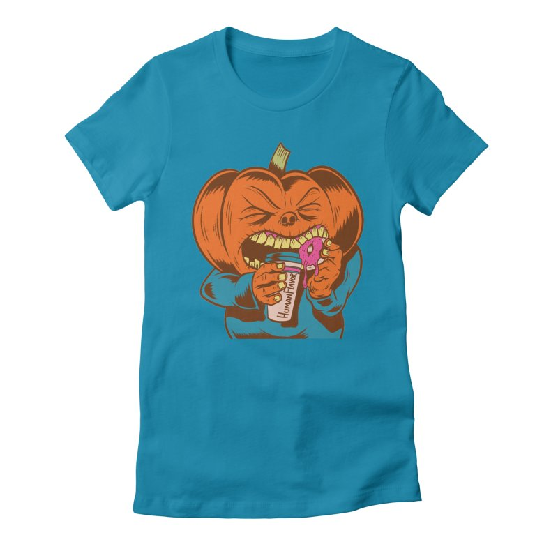 Human Latte Women's Fitted T-Shirt by Pat Higgins Illustration