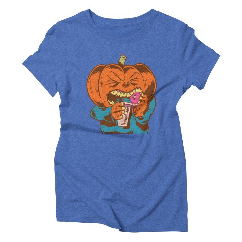 Human Latte Women's Triblend T-Shirt by Pat Higgins Illustration