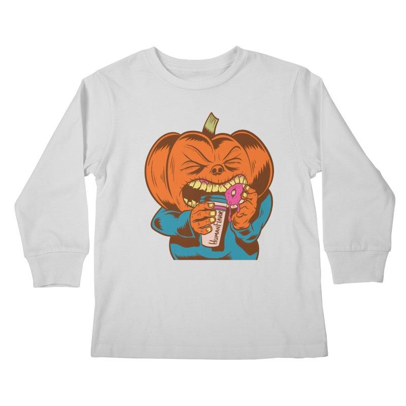 Human Latte Kids Longsleeve T-Shirt by Pat Higgins Illustration