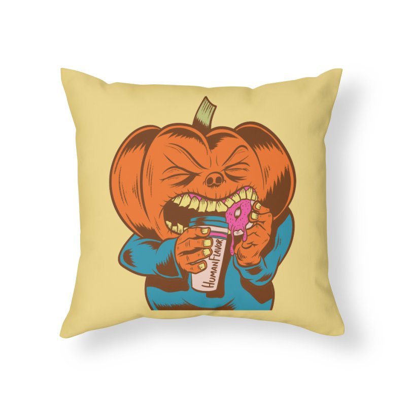 Human Latte Home Throw Pillow by Pat Higgins Illustration