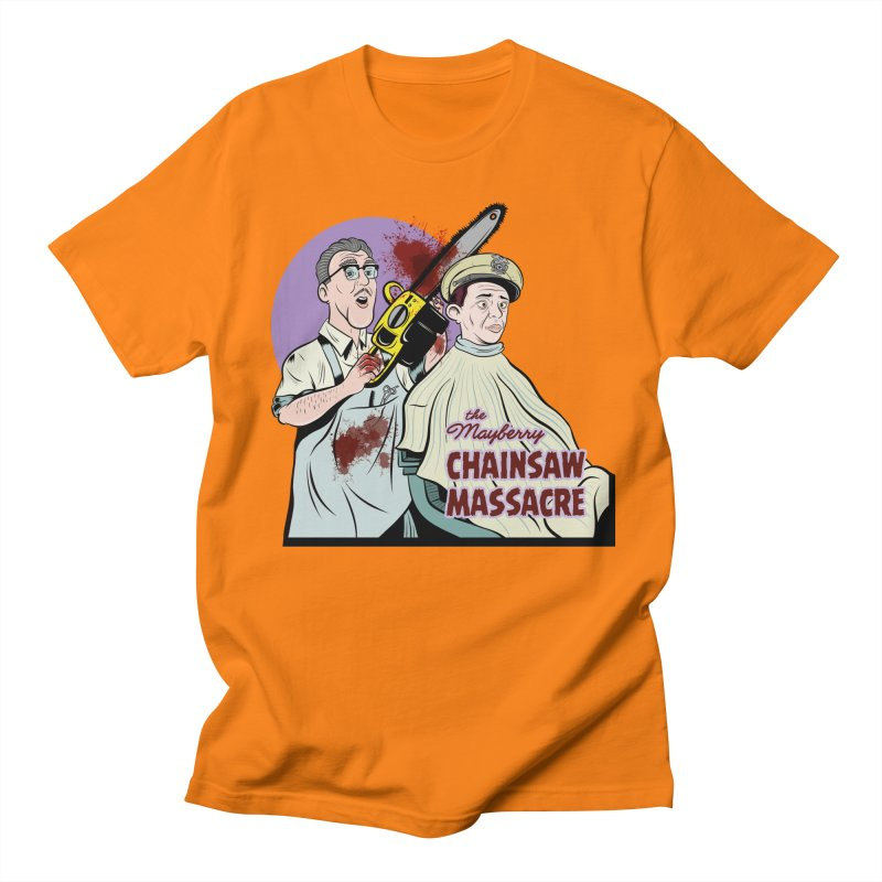 Mayberry Chainsaw Massacre Men's T-Shirt by Pat Higgins Illustration