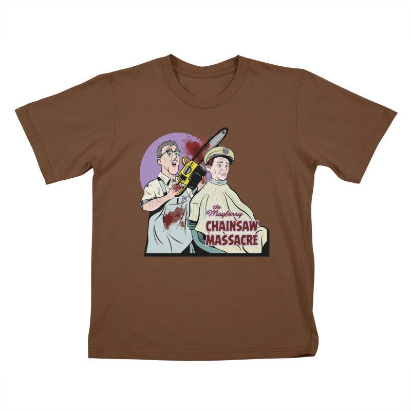 Mayberry Chainsaw Massacre Kids T-Shirt by Pat Higgins Illustration