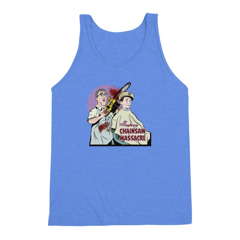 Mayberry Chainsaw Massacre Men's Triblend Tank by Pat Higgins Illustration