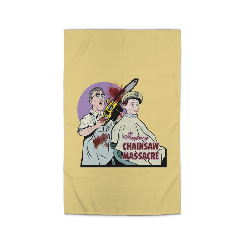 Mayberry Chainsaw Massacre Home Rug by Pat Higgins Illustration