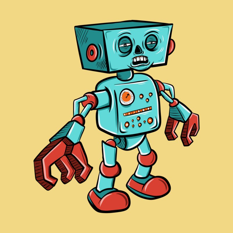 62d9d9 - Astro the Android by Pat Higgins Illustration