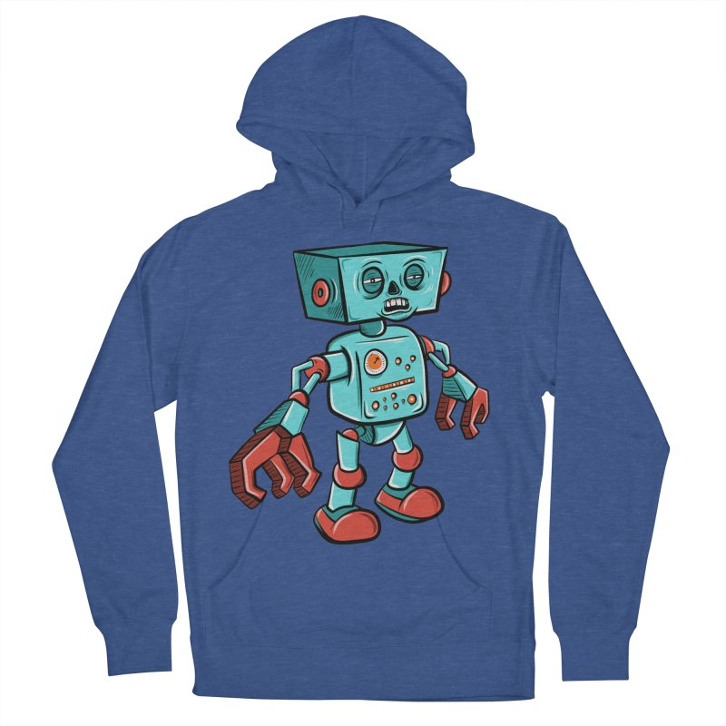 62d9d9 - Astro the Android Women's Pullover Hoody by Pat Higgins Illustration