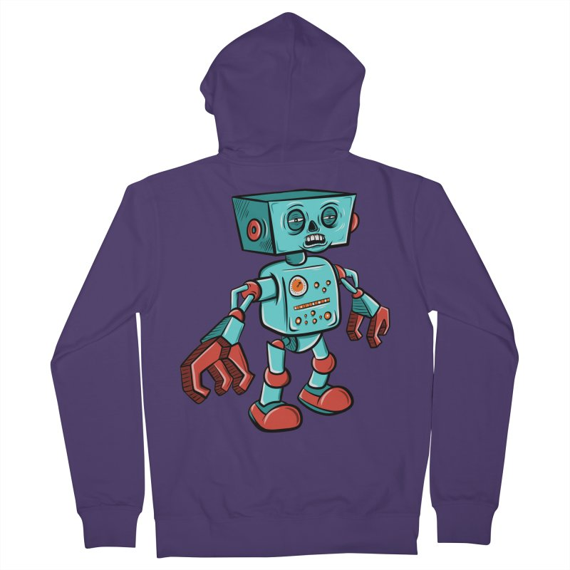 62d9d9 - Astro the Android Women's Zip-Up Hoody by Pat Higgins Illustration