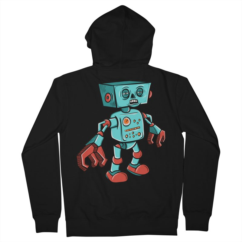 62d9d9 - Astro the Android Men's Zip-Up Hoody by Pat Higgins Illustration