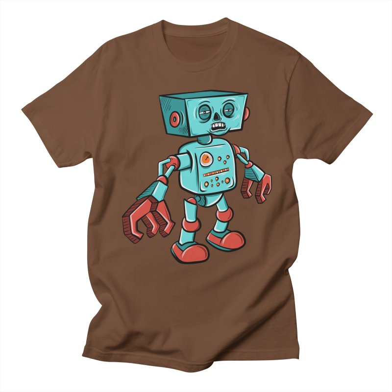 62d9d9 - Astro the Android Men's T-Shirt by Pat Higgins Illustration
