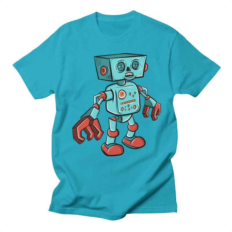 62d9d9 - Astro the Android Women's Unisex T-Shirt by Pat Higgins Illustration